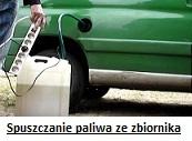 spuszczanie paliwa z baku Szczecin